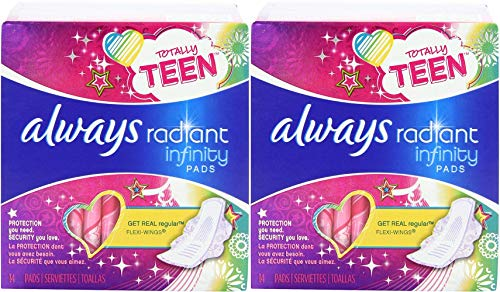 Always Totally Teen Always Radiant Infinity Pads