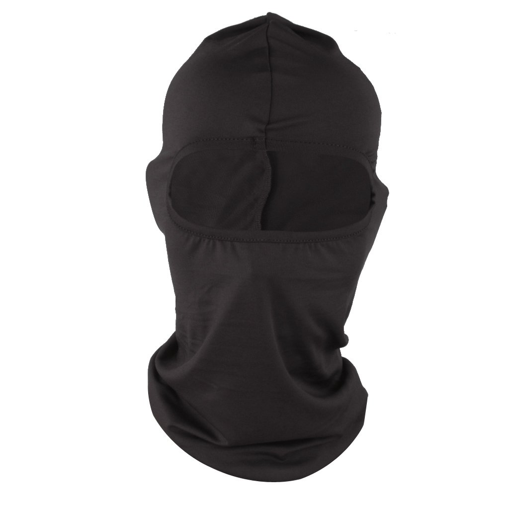 Motorcycle Cycling Ski Neck protecting Balaclava Full Face Mask Headwear - Black, one size Generic