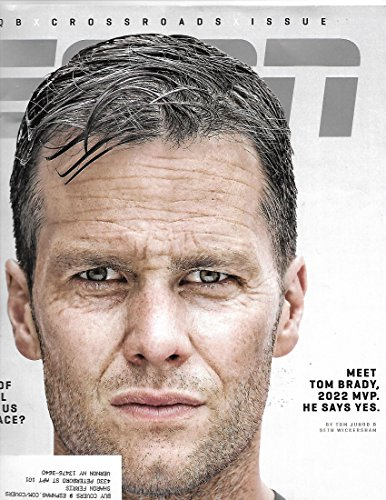 ESPN magazine November 13 2017 Tom brady 20122 Cover} { postal address label on front] (Magazine Front Cover)