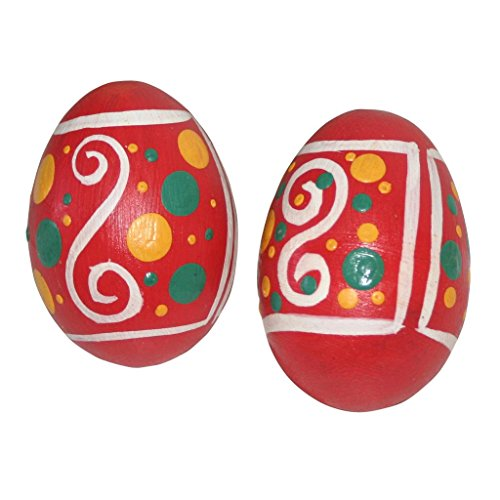 X8 Drums Pink Wooden Egg Shaker with Hand Painted Design
