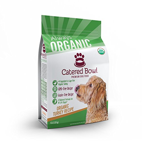 Catered Bowl Organic Turkey Pet Food for Dog, 4 lb