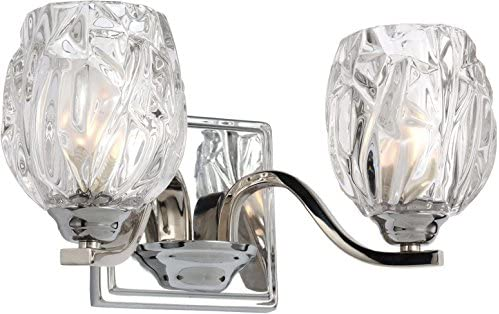 Feiss VS22702CH Two Kalli VS22702 2 Bathroom Vanity Light, Chrome