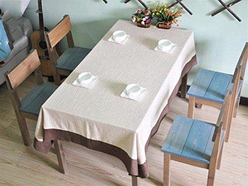 140220cm A Nappe De Cuisine Nappe de table cousue à la main haut de gamme classique nappe de lin épaisse super épais lin confortable Nappe Pique Nique (Couleur   140  220cm, Taille   A)