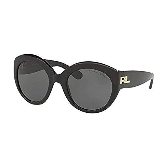 ada321aeecb4 RALPH LAUREN Women's 0RL8159 56346H Sunglasses, Brown Horn Vintage  Effect/Brownmirrorgold, 53