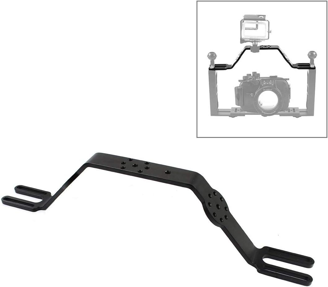 Color : Black Diving Tray Bracket Dual Handle Grip Handheld Expansion Mount System Durable