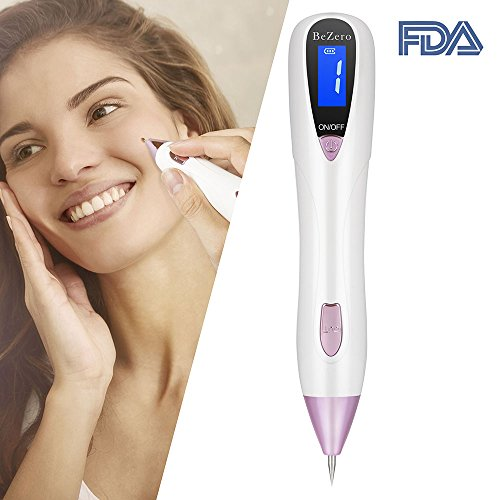 Skin Tag Remover, BeZero Skin Tag Remover Adjustable 6-Levels Home Use, LED Spotlight USB Rechargeable Spot Eraser Pro Pen for Wart Nevus Tatoo (Laser Dark Spots)