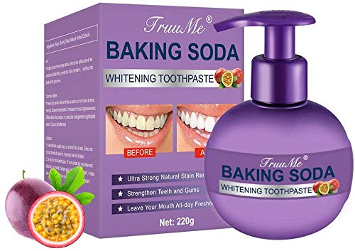 Baking Soda Toothpaste, Intensive Stain Removal Whitening Toothpaste, Teeth Whitening Toothpaste, Prevent Tooth Decay, Natural Stain Removal Refreshing