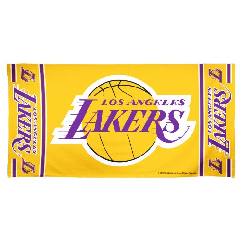 NBA Los Angeles Lakers 30 by 60 Fiber Reactive Beach Towel
