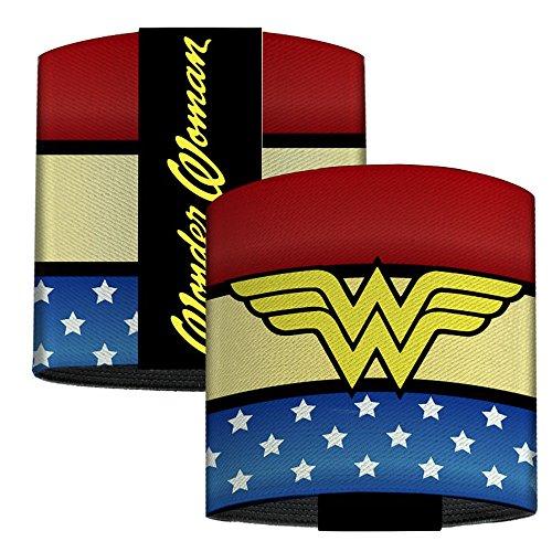 DC Comics Elastic Wrist Cuff Bracelet - Wonder Woman Logo Stripe/Stars -