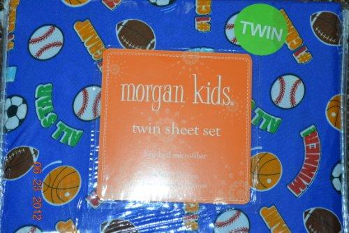 """UPC 608729822301, Twin Sports All Star Blue """"Winner"""" Morgan Kids Sheet Set"""
