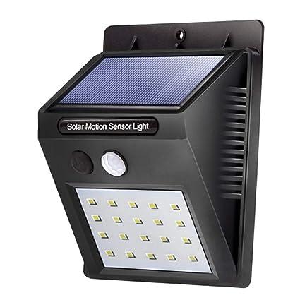queques Box – Lámpara solar con detector de movimiento (20 LED Solar Lámpara de pared
