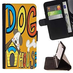 Jordan Colourful Shop - FOR Sony Xperia Z1 Compact D5503 - a Silly dog - Leather Case Absorci¨®n cubierta de la caja de alto impacto