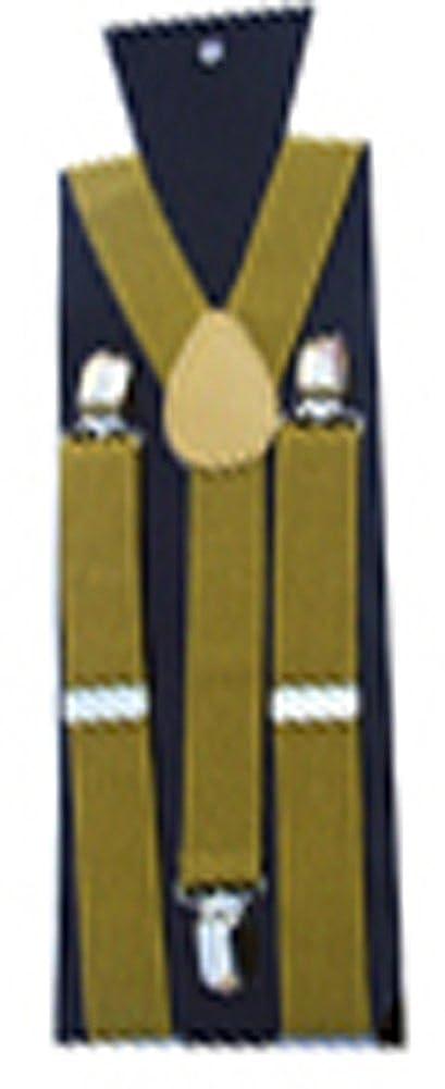 AvaCostume Boys Solid Color 1 Inch Wide Elastic Children's Suspenders Braces Black 01-YWXP-16055-Black