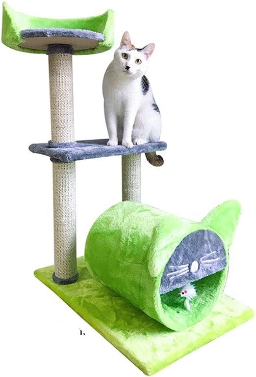 UTOPIAY Verde Árbol Rascador para Gato, Centro de Actividades de ...
