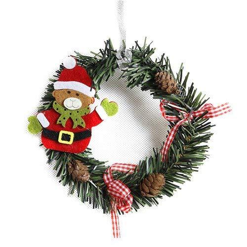 (Pendant & Drop Ornaments - Snowman Christmas Deer Art Wreath Decoration Rattan Reed Garland Ornaments Home Party Decor - Rattan Decor Rattan Christma Christmas Fox Aromatic Cowboy Ball San)