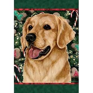 Golden Retriever–mejor de raza Holiday Treats Navidad bandera de Jardín