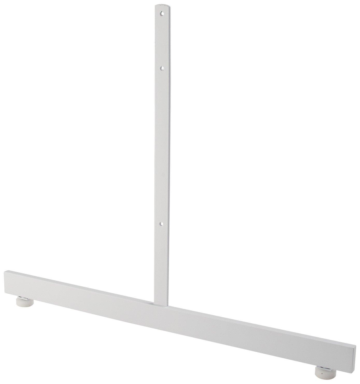 Econoco Rectangular Tubing Leg for Grid Panel, White (Pack of 12)