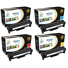 Catch Supplies Replacement HP 312A toner cartridge 4 pack set |1 Black CF380A, 1 Cyan CF381A, 1 Yellow CF382A, 1 Magenta CF383A | compatible with the HP Color LaserJet Pro MFP M476nw, M476dn, M476dw