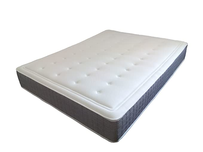 SUENOSZZZ- Colchón 10 cms de Viscoelastico *Confort Golf* (Camas 135 cms) Medida 135 x 190 x 27 cms Color Blanco/Ceniza: Amazon.es: Hogar