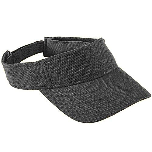 (Augusta Sportswear Adult Adjustable Wicking MESH Visor OS Black)