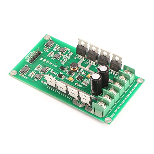 RioRand DC Smart Car PWM Dual Motor Driver Controller (Module Circuit Board H-bridge MOSFET IRF3205 3-36V 15A Peak 30A For - Controller Motor Circuit