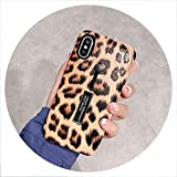 for iPhone 6s 6 XS MAX XR 7 8 Plus Fashion Marble Pineapple Silicone Ring Phone Cases for iPhone 7 Case Hide Stand Holder Cover,Leopard A,for iPhone 8 Plus