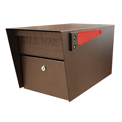Oasis Mailboxes Curbside Mailbox - Mail Boss 7508 Curbside Mail Manager Locking Security Mailbox, Bronze (Renewed)