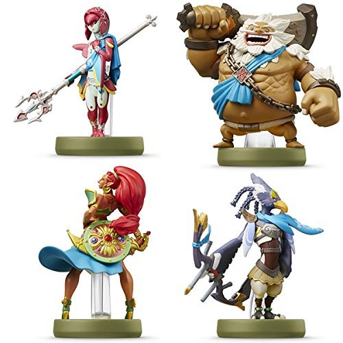 Price comparison product image Amiibo Mipha Zora / Urbosa Gerudo / Daruk Goron / Revali Rito 4 SET The Legend of Zelda Breath of the Wild Series Japan Ver.