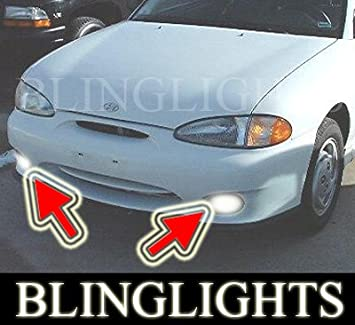 Amazon BLINGLIGHTS FOG LIGHTS For 95 99 HYUNDAI ACCENT GSI