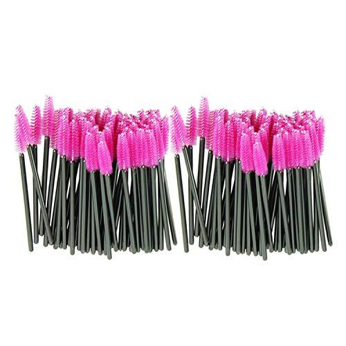100pcs/lot Disposable Eyelash Brushes Beauty Makeup Brush Pink Synthetic Fiber One-Off Disposable Eyelash Brush New,United States