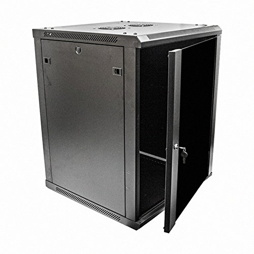 Navepoint 15U Deluxe IT Wallmount Cabinet Enclosure 19-Inch Server Network Rack With (Ht Wall Mount)