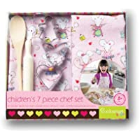 Cooksmart 7 Pieces Chef Set (Mousey), Girl, Pink