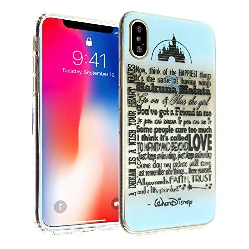 Walt Disney Case - iPhone X Case, Walt Disney Quotes iPhone X Case DURARMOR FlexArmor TPU Bumper Case Ultra Slim ScratchSafe Shock Absorption Cover for iPhone X Disney Quotes