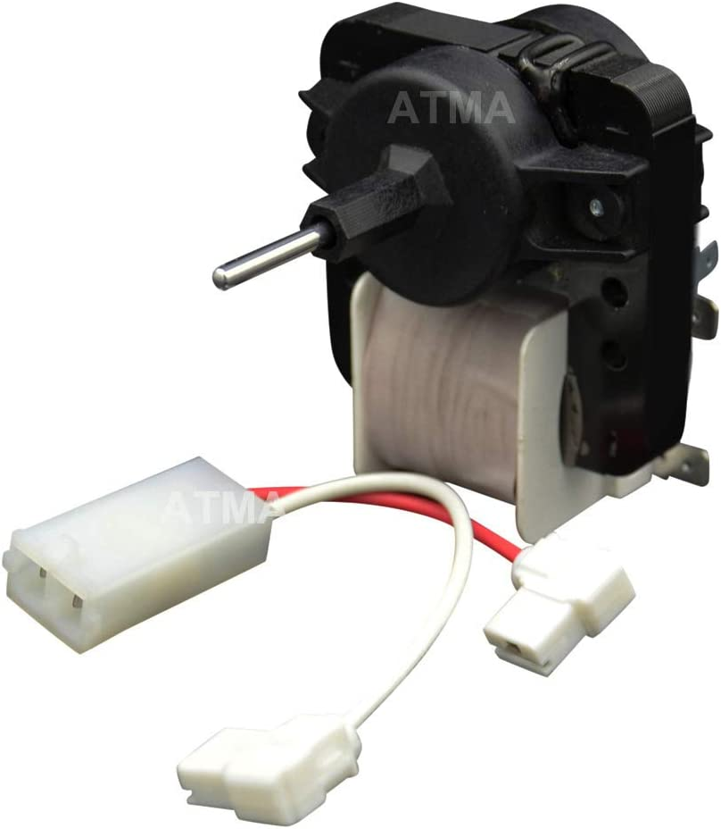 ATMA 4389144 Refrigerator Evaporator Fan Motor Compatible with Whirlpool Replace W10131845 W10312647 2149299 2162404 2188303 4389144VP 921541 AP3137520