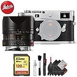 Leica M-P (Typ 240) Digital Rangefinder Camera (Silver) + Leica Summarit-M 50mm f/2.4 Lens (Black) + Pro Accessory Combo