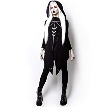 Amazon.com: Enfei Cool Women Cosplay Costume Coat Irregular ...