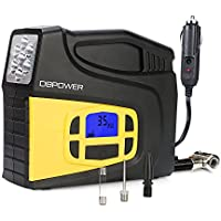 DBPOWER Portable 12V DC Tire Inflator Digital LCD Display Air Compressor Pump for Cars