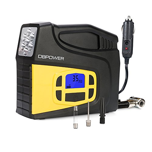DBPOWER Portable 12V DC Tire Inflator/ Air Compressor Pump Only $23.99