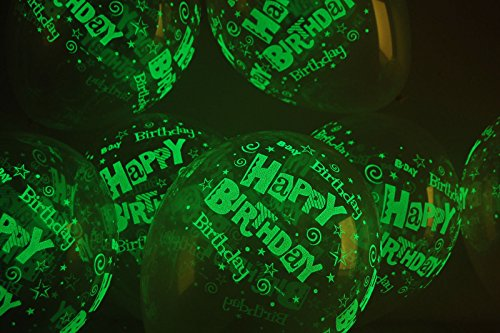 Sawan Shop 25pcs. x Glow in The Dark Happy Birthday 11