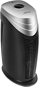HUNTER HT1702 Air Purifier with ViRo-Silver Pre-Filter and HEPA+ Filter, for Allergies, Germs, Mold, Dust, Pets, Smoke, Pollen, Odors, for Medium Rooms, 18-Inch Titanium/Black Air Cleaner