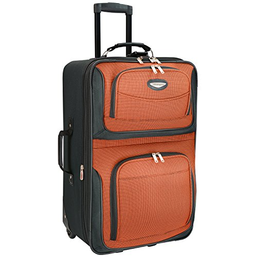 Travel Select Amsterdam Expandable Rolling Upright Luggage Bag – Orange (25-Inch)