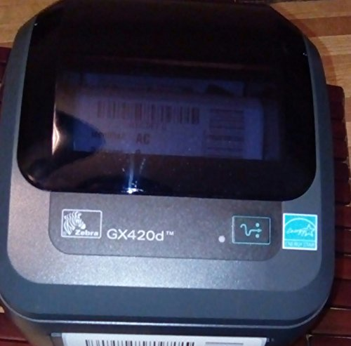Zebra - GX420d Direct Thermal Desktop Printer for Labels, Receipts, Barcodes, Tags, and Wrist Bands - Print Width of 4 in - USB, Serial, and Parallel Port Connectivity