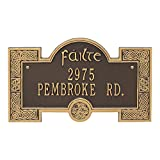 Whitehall Personalized Indoor/Outdoor Irish Cead Mile Failte Plaque Sign featuring The Gaelic Welcome, A Hundred Thousand Welcomes (Bronze Gold)