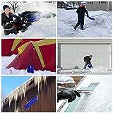 V VONTOX Snow Shovel, Detachable Plastic Snow