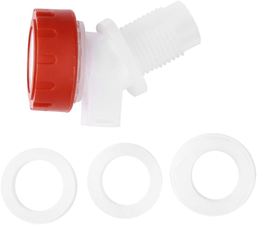 YiZYiF Knob Type Water Dispenser Replacement Faucet Reusable Spigot Spout Valve for Beverage Container Homebrew Beer Wine Making White One Size