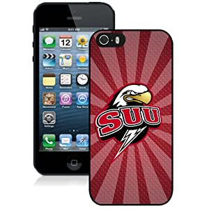 Popular And Durable Designed Case With NCAA Big Sky Conference Football Southern Utah Thunderbirds 3 Protective Cell Phone Hardshell Cover Case For iPhone 5 5S Phone Case Black