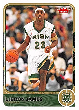fbede69d1f2 Lebron James Basketball Card (St. Vincent St. Mary High School) 2012 Fleer  Retro #2 at Amazon's Sports Collectibles Store