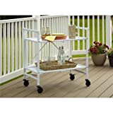 Quick and Easy Cosco Folding Serving Cart, Multiple Colors (White)