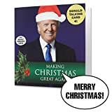 Talking Trump Christmas Card - Wishes You A Merry Christmas In Donald Trump's REAL Voice - Surprise Someone With A Personal Holiday Greeting From The President Of The United States - Includes Envelope