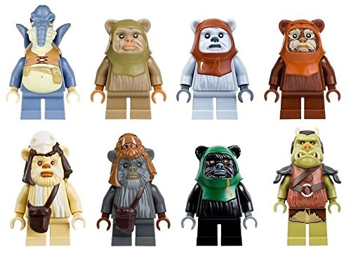 Shalleen 8x Watto Ewok Warrior Logray Wicket Teebo Gamorrean Figures Star Wars Bricks Toy